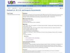 U.S. and Iroquois Governments Lesson Plan