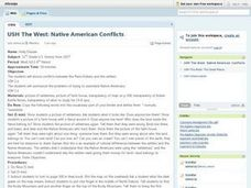 U.S. History: Native American Conflicts Lesson Plan