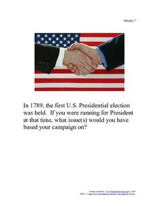 U.S. Presidential Election: January 7, 1789 Worksheet