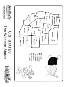 U.S. States: The Western States Worksheet