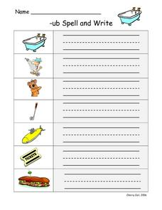 -ub Spell and Write Lesson Plan