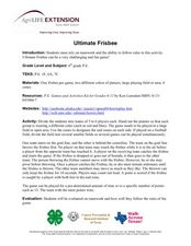 Ultimate Frisbee Lesson Plan