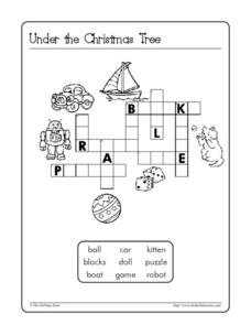 Under the Christmas Tree Worksheet