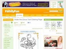 Under the Circus Tent Coloring Page Lesson Plan