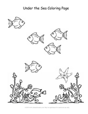 Under the Sea Coloring Page Worksheet