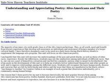 Understanding and Appreciating Poetry: Afro-Americans and Their Poetry Lesson Plan