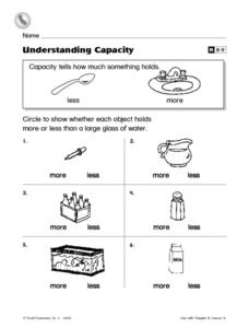 Understanding Capacity Worksheet