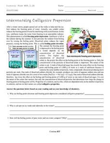 understanding colligative properties 9th 12th grade worksheet lesson planet. Black Bedroom Furniture Sets. Home Design Ideas