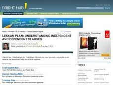 Understanding Independent and Dependent Clauses Lesson Plan