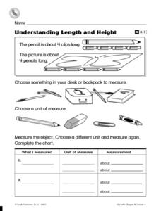 Understanding Length and Height Worksheet