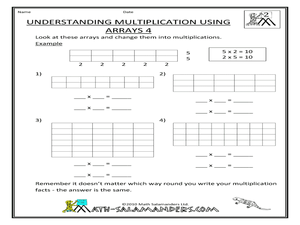 math worksheet : understanding multiplication using arrays 4 2nd  4th grade  : Multiplication Using Arrays Worksheet