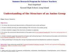 Understanding of the Structure of an Amino Group Lesson Plan