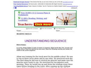 Understanding Sequence Worksheet