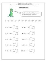 Understanding Subtraction Worksheet