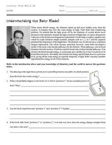 understanding the bohr model 9th 12th grade worksheet lesson planet. Black Bedroom Furniture Sets. Home Design Ideas
