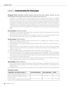 Understanding the Newspaper Lesson Plan