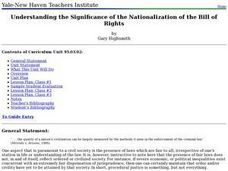 Understanding the Significance of the Nationalization of the Bill of Rights Lesson Plan