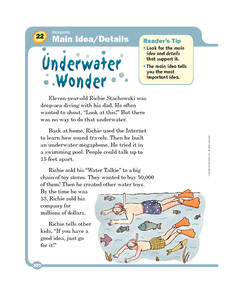 Underwater Wonder Worksheet