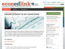 Unemployment in My Hometown Lesson Plan