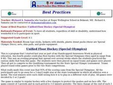 Unified Floor Hockey (Special Olympics) Lesson Plan