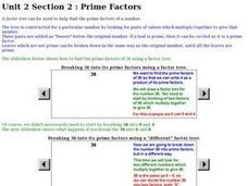 Unit 2 Section 2: Prime Factors Worksheet