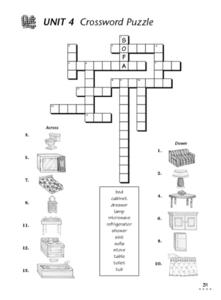 Unit 4 Crossword Puzzle Worksheet