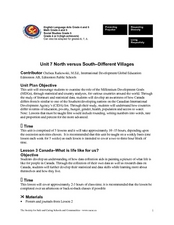 Unit 7: North Versus South Different Villages Lesson Plan