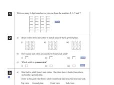 Unit Cubes Worksheet