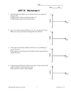 Velocity And Acceleration Calculation Worksheet Answers Photos ...