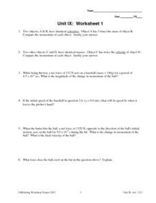 unit ix worksheet 1 impulsive force 9th 12th grade worksheet lesson planet. Black Bedroom Furniture Sets. Home Design Ideas