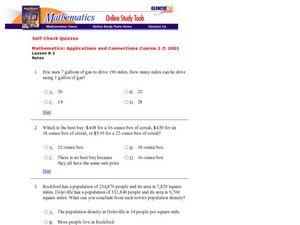 Unit Rates 6th - 8th Grade Worksheet | Lesson Planet