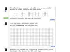 Unit Squares: Reflection, Rotation, Symmetry Worksheet