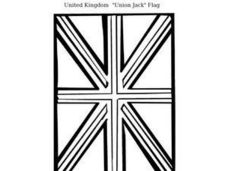 "United Kingdom ""Union Jack"" Flag Worksheet"