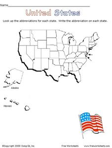 United States - Abbreviations Worksheet