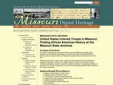 United States Colored Troops in Missouri: Finding African American History at the M Lesson Plan
