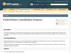 United States Constitution Framers Lesson Plan