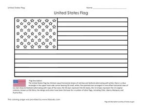 United States Flag Worksheet