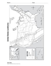 United States Landforms Worksheet