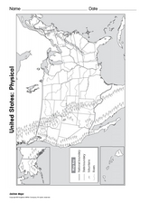 United States: Physical Map Worksheet
