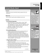 United Words Stand Lesson Plan