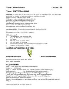 Universal Love Lesson Plan