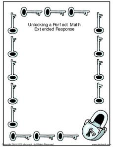 Unlocking a Perfect Math Extended Response Worksheet