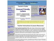 Unusual Friendly Letters: Persuasion and Point of View Lesson Plan
