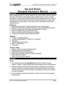Up and Down:  Damped Harmonic Motion Lesson Plan