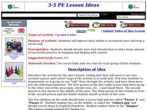Up and Under Lesson Plan
