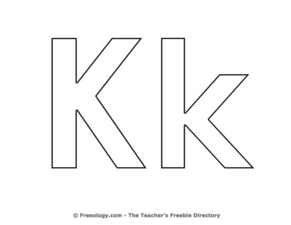 Upper and Lower Case Letter Kk (Coloring) Pre-K