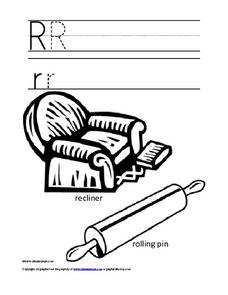 Upper and Lower Case Letter Rr Worksheet
