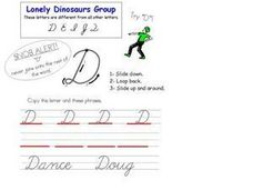 Upper Case Cursive D Worksheet