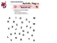 Uppercase A-C Worksheet