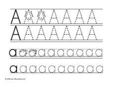 Uppercase and Lowercase Aa Worksheet
